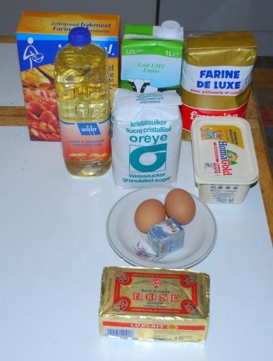 Christstollen-Ingrédients pour la pâte