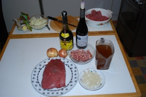 Boeuf bourgignon-ingrédients