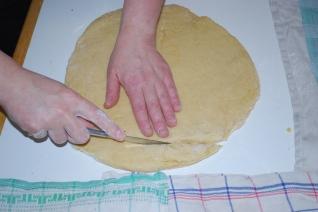 découpage de la pâte