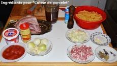 Ingrédients pour cuisse de porcelet