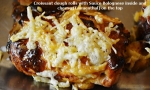 Pains à la sauce Bolognese et au fromagerâpé