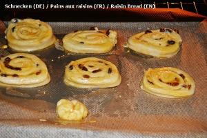 Pains aux raisins ( Schnecken )